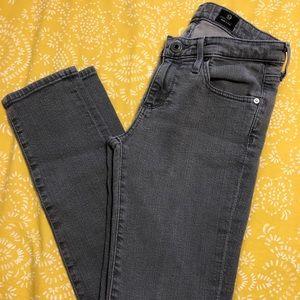Woman's AG slim straight leg gray jeans , size 26